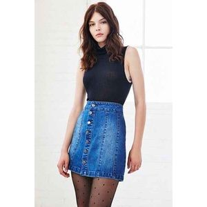 UO Denim Seamed Skirt